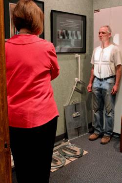 Raynham chiropractor taking x-rays