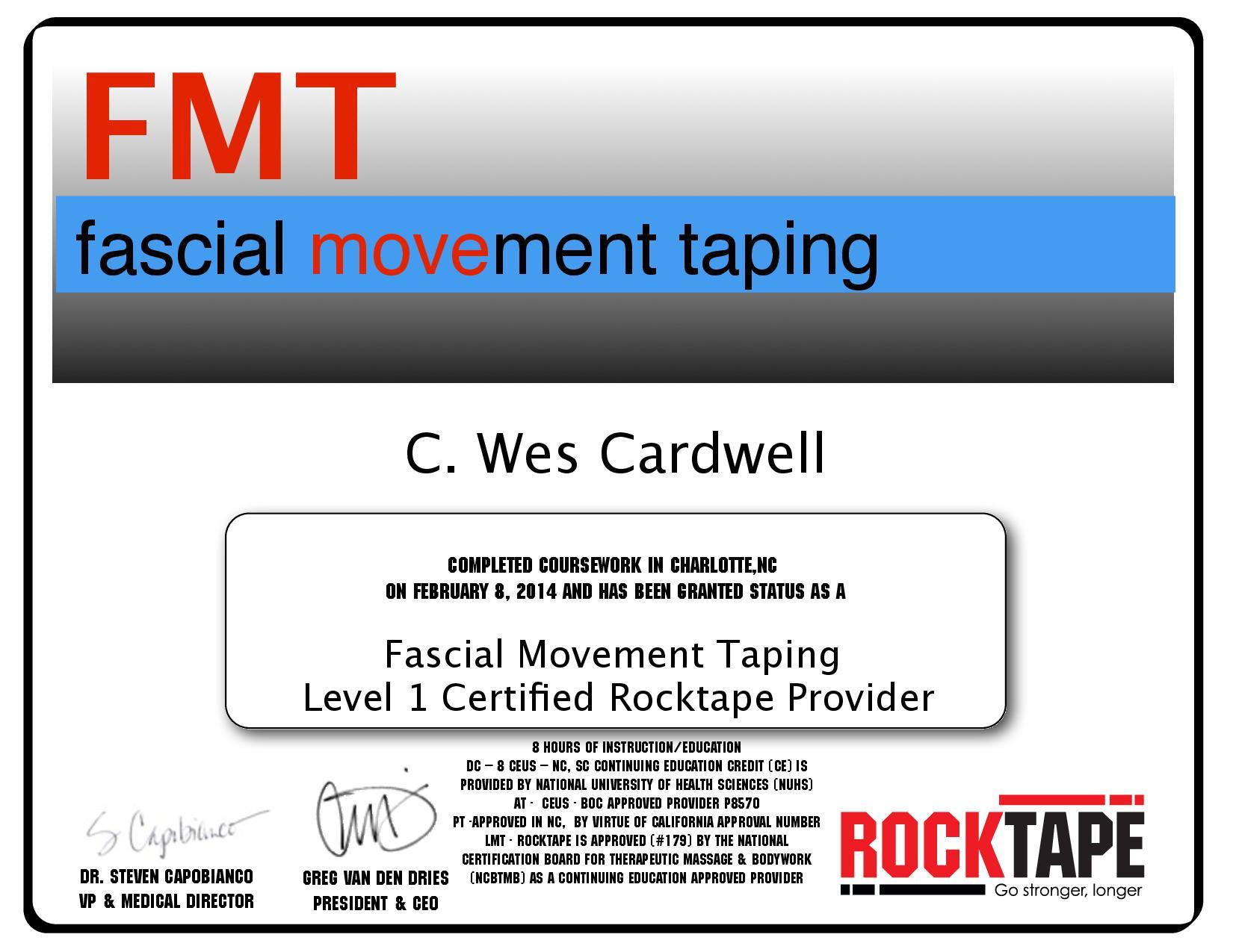 FMT certification
