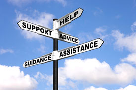 help-and-support-signpost