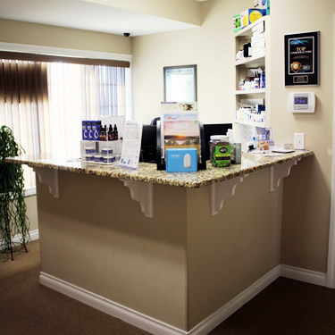 Family Chiropractic reception desk