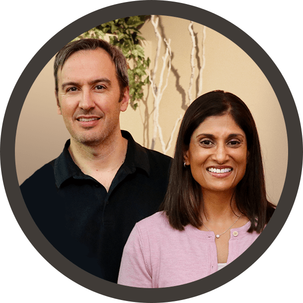 Dr. Paul and Dr. Indira headshots