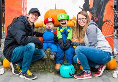 Ellis Family on Halloween
