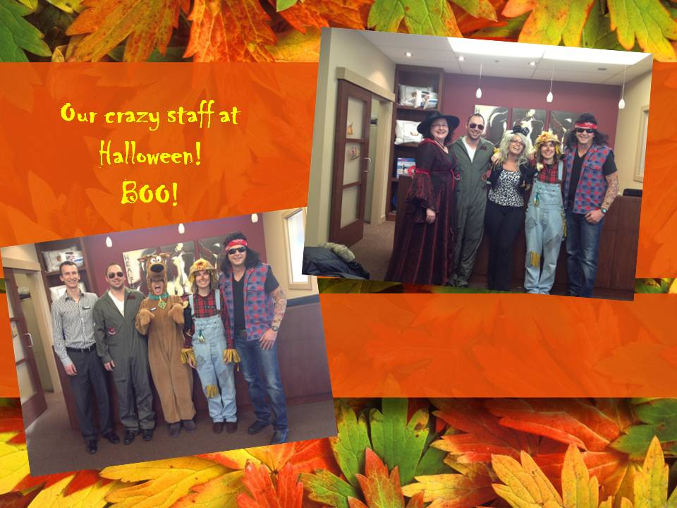 Brisbin Family Chiropractic staff having fun at halloween