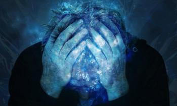 a person enduring headache pain