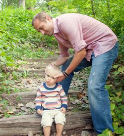 Asheville Chiropractor adjusting little boy