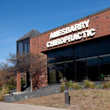 Amesbarry chiropractic clinic office front