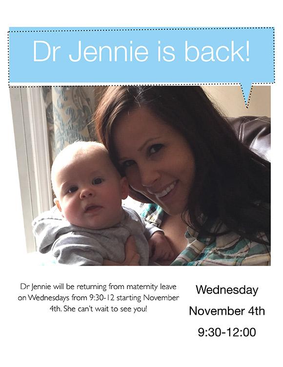 Dr. Jennie Returns Flyer