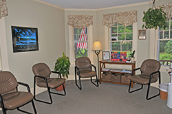 Our patient waiting area
