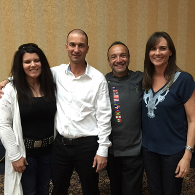 Certifed Weightloss Coaches: Andrea and Guillaume with Chef Verati and Dr. Corissa Audren