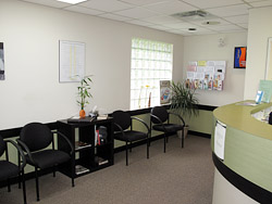 Relax in our comfortable waiting area.