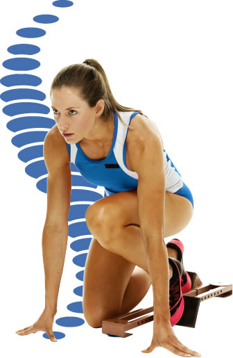 woman ready to run a race