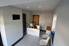 Reception area of Health Inc Chiropractic in Hull