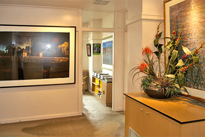 Reception area at Collins St Dental