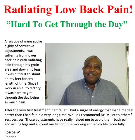 back pain testimonial