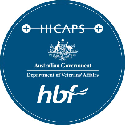 HICAPS and HBF logos