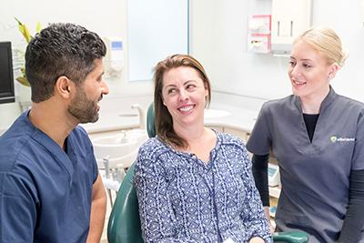 Dr Chopra talking to patient