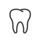 Illustration of white tooth
