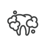 Illustration of tooth being whitened