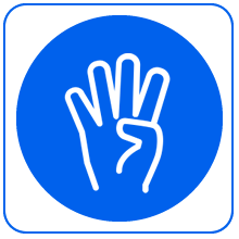 Icon of a hand