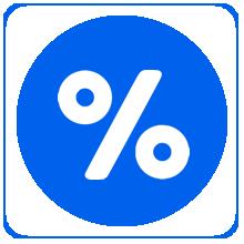 Icon of percentage symbol