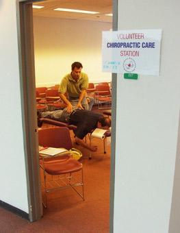 Dr. Shire adjusting man