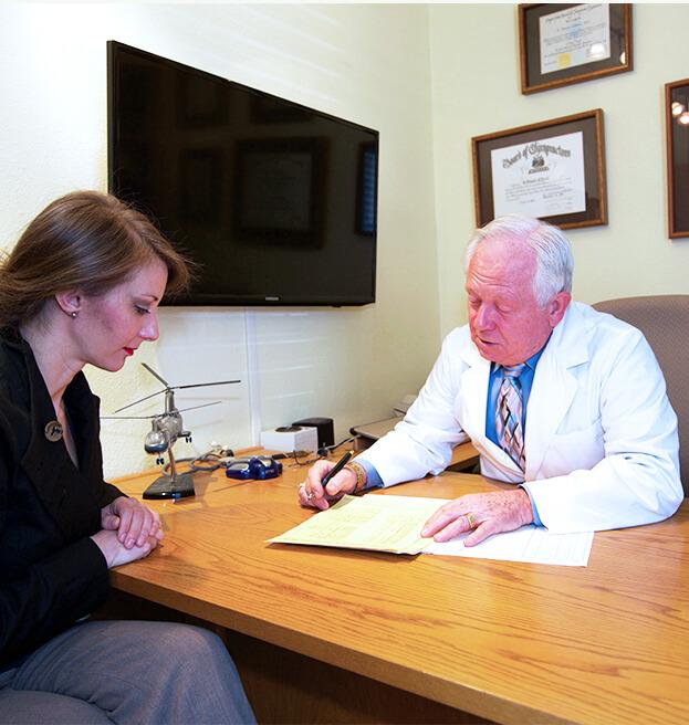 Dr. Dan talking to patient