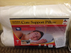 Great pillow for stability of neck. Pillows come in a S/M/L and has 2 different sides to choose from