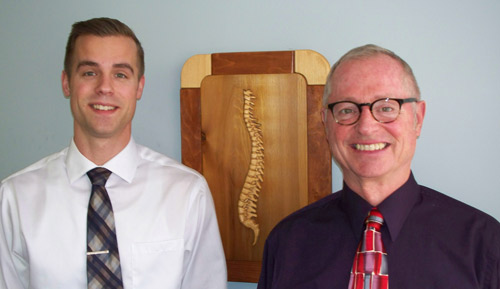 Sturgeon Bay chiropractor father and son team, Dr. Randal Arnold and Dr. Levi Arnold