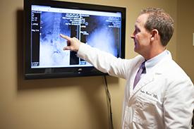 Maple Grove Chiropractor explaining x-rays