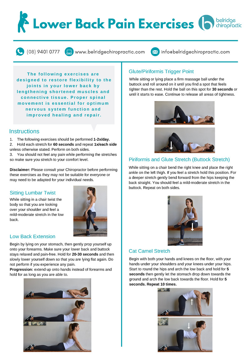 Lower Back Pain Exerces