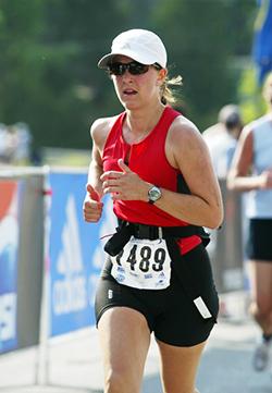 Dr. Day running her first marathon!