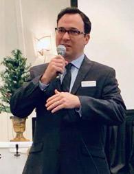 Doctor giving a presentation.