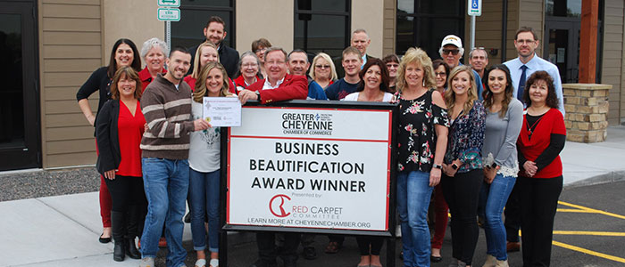 Our Team with our 2019 Beautification Award