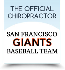 The Official Chiropractor of the San Francisco Giants