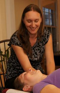 Belchertown Chiropractor adjusting patient.