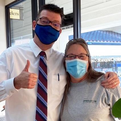 Dr. Hans and happy patient