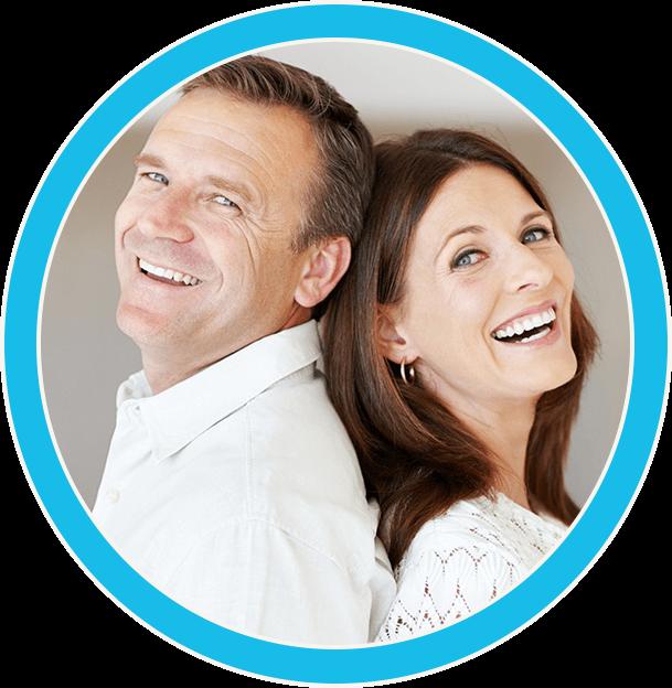 happy, smiling couple