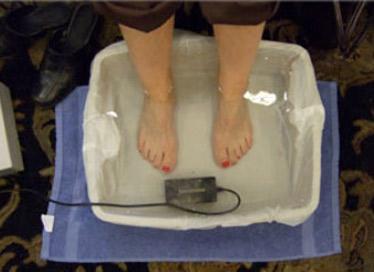Feet in foot bath