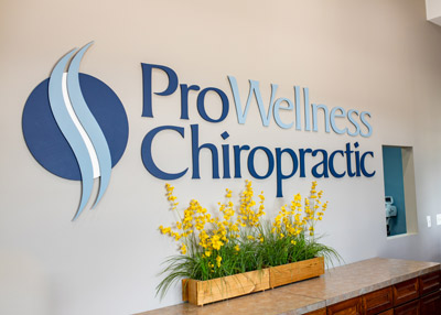 ProWellness Chiropractic lobby sign