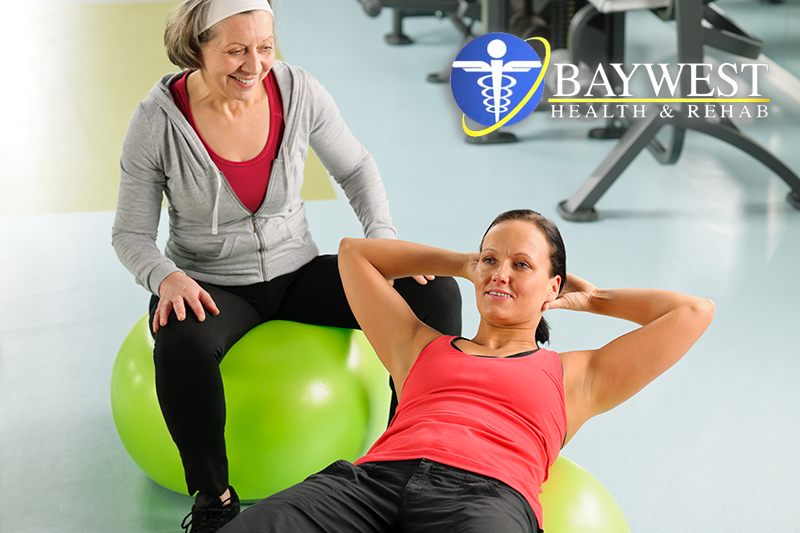 Swiss ball exercises for low back pain