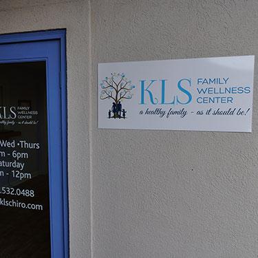 KLS Chiropractic office sign