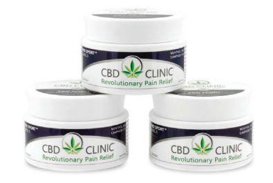 Three jars of CBD Ointment