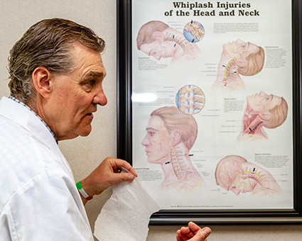 Dr. Schmidt by neck sign