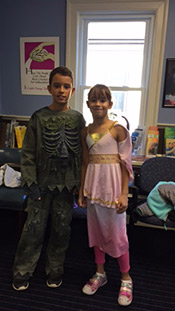 Halloween two kids