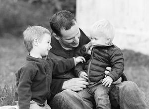 Richmond Chiropractor Dr. David Varga with sons.