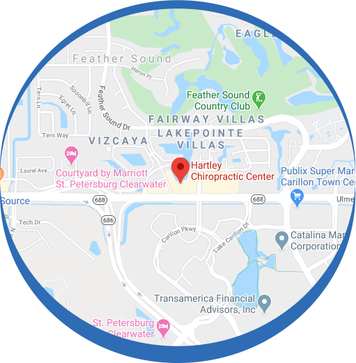 Hartley Chiropractic Center Clearwater map