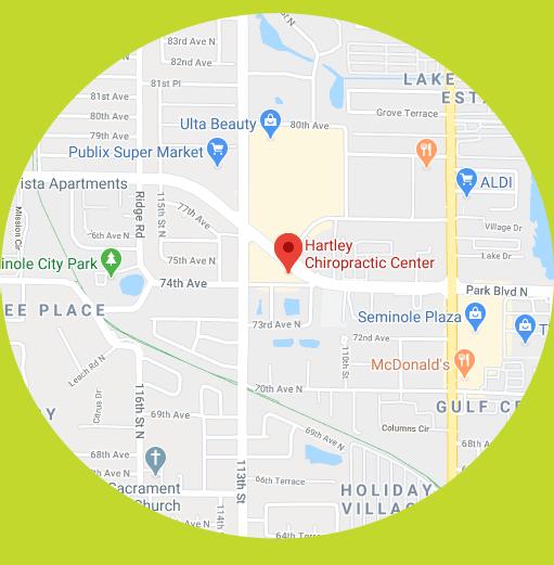 Hartley Chiropractic Center Seminole map