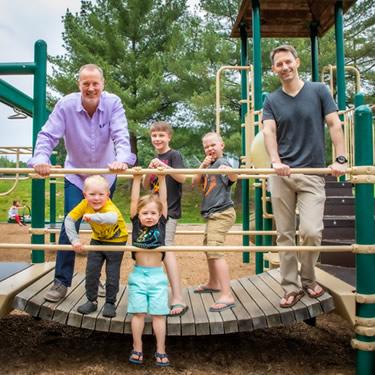 Dr. Scott with kids