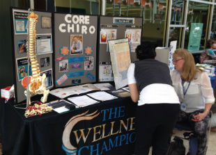 True North Chiropractic Community Outreach table
