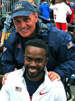 Dr. Ayres North Raleigh Sports Chiropractor with Jamaal Torrance